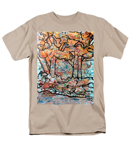 Men's T-Shirt  (Regular Fit) featuring the mixed media Rhythm Of The Forest by Genevieve Esson