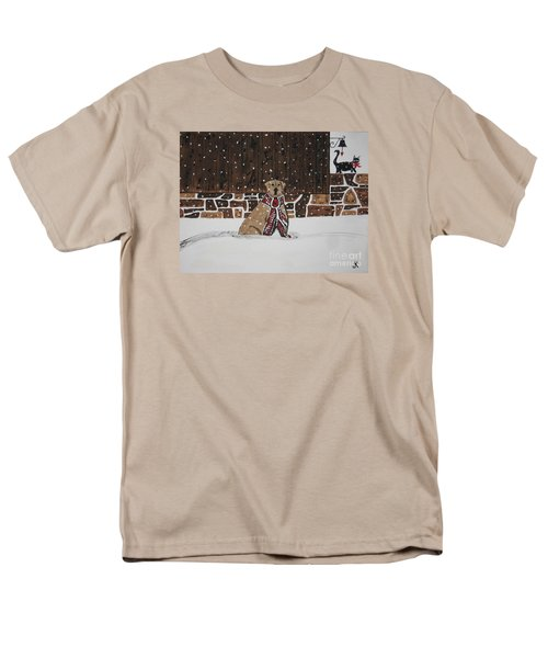 Men's T-Shirt  (Regular Fit) featuring the painting Ring The Dinner Bell by Jeffrey Koss