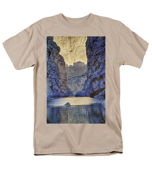 Rio Grand, Santa Elena Canyon Texas 2 Men's T-Shirt  (Regular Fit) by Kathy Adams Clark