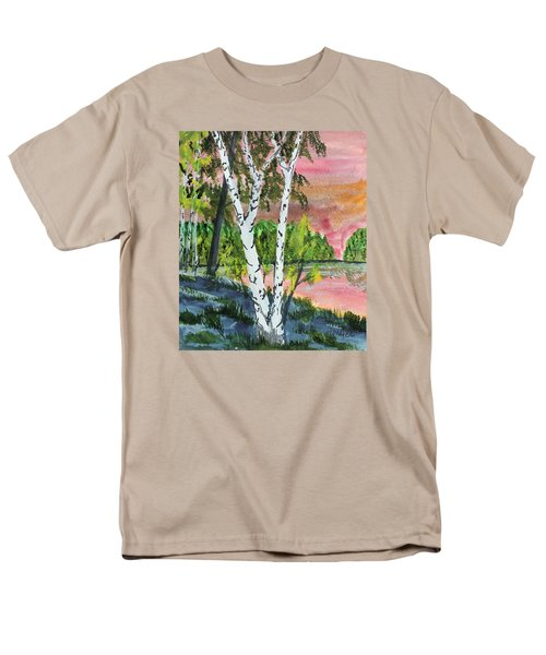 River Birch Men's T-Shirt  (Regular Fit) by Jack G  Brauer