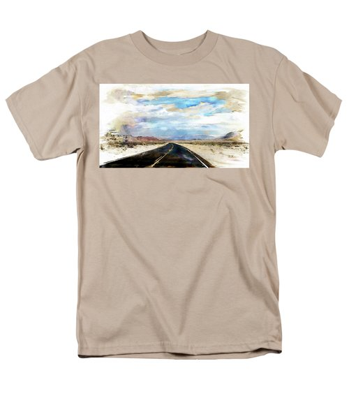 Men's T-Shirt  (Regular Fit) featuring the digital art Road In The Desert by Robert Smith