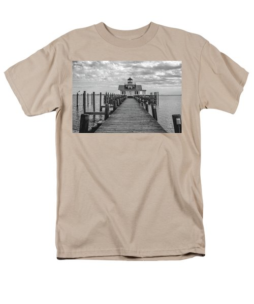 Men's T-Shirt  (Regular Fit) featuring the photograph Roanoke Marshes Light by David Sutton