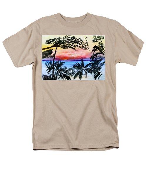 Roatan Sunset Men's T-Shirt  (Regular Fit) by Donna Walsh