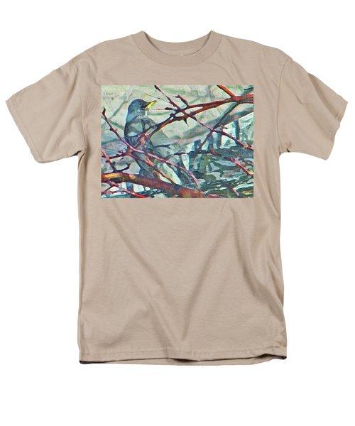 Robins Impression Of Spring Men's T-Shirt  (Regular Fit)