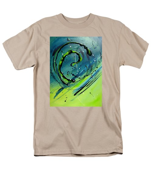Men's T-Shirt  (Regular Fit) featuring the painting Rolling Down The River by Mary Kay Holladay
