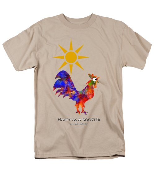 Rooster Pattern Aged Men's T-Shirt  (Regular Fit) by Christina Rollo
