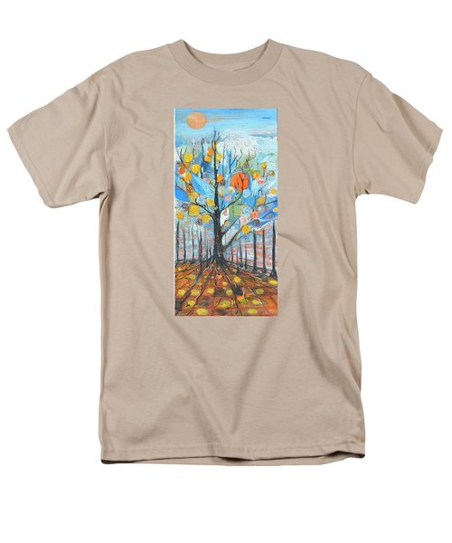 Men's T-Shirt  (Regular Fit) featuring the painting Roots by Evelina Popilian