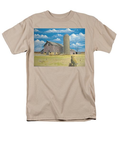 Men's T-Shirt  (Regular Fit) featuring the painting Rorabeck Barn by Norm Starks