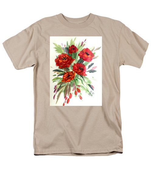 Men's T-Shirt  (Regular Fit) featuring the painting Rose Love by Dorothy Maier
