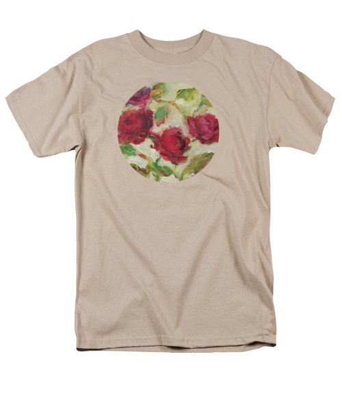 Men's T-Shirt  (Regular Fit) featuring the painting Roses by Mary Wolf