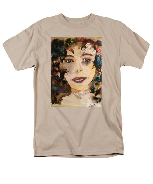 Men's T-Shirt  (Regular Fit) featuring the painting Rosie by Denise Tomasura