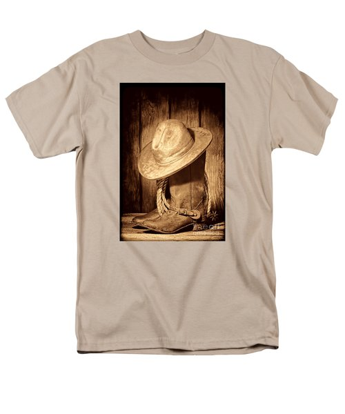 Rough Rider Men's T-Shirt  (Regular Fit) by American West Legend By Olivier Le Queinec
