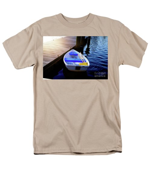 Rowboat At Sunset Men's T-Shirt  (Regular Fit) by Inspirational Photo Creations Audrey Woods
