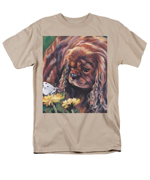 Men's T-Shirt  (Regular Fit) featuring the painting Ruby Cavalier King Charles Spaniel by Lee Ann Shepard