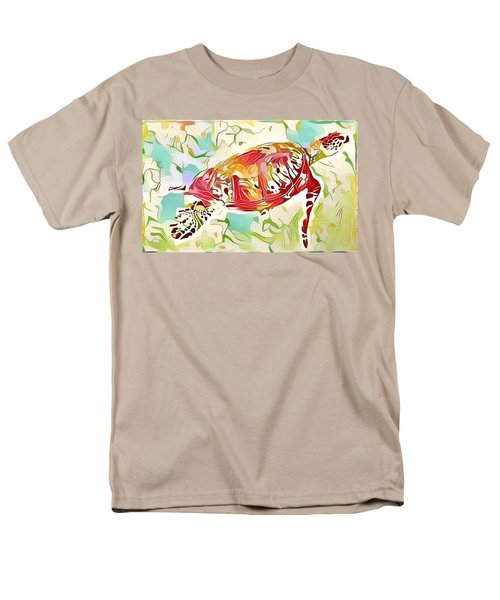 Men's T-Shirt  (Regular Fit) featuring the digital art Ruby The Turtle by Erika Swartzkopf