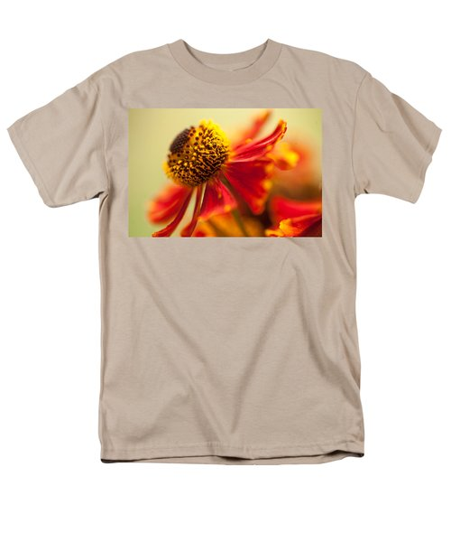 Men's T-Shirt  (Regular Fit) featuring the photograph Rudbeckia Macro by Jenny Rainbow