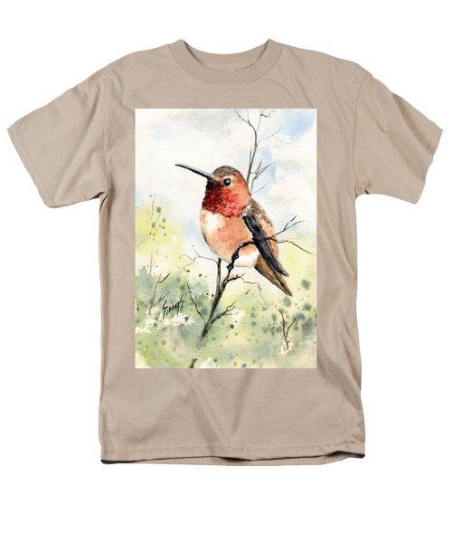 Rufous Hummingbird Men's T-Shirt  (Regular Fit) by Sam Sidders