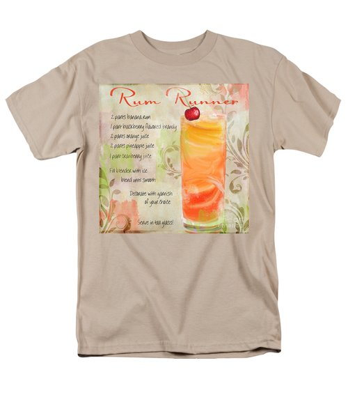 Rum Runner Mixed Cocktail Recipe Sign Men's T-Shirt  (Regular Fit) by Mindy Sommers