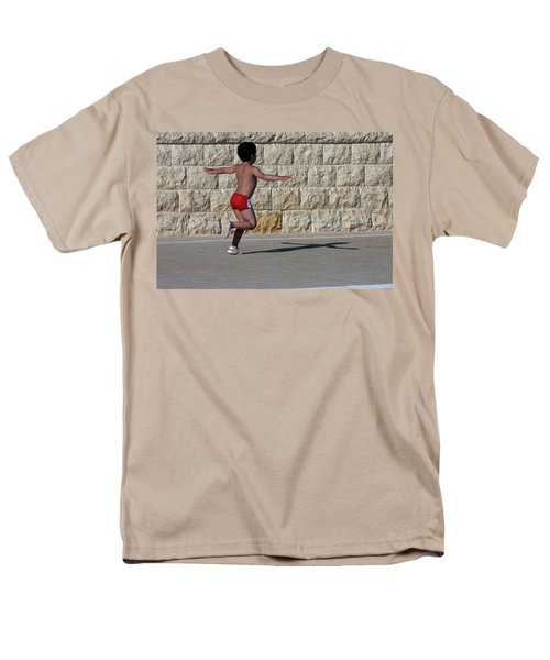 Running Child Men's T-Shirt  (Regular Fit) by Bruno Spagnolo