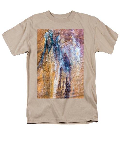 Men's T-Shirt  (Regular Fit) featuring the photograph Runoff Abstract, Bhimbetka, 2016 by Hitendra SINKAR