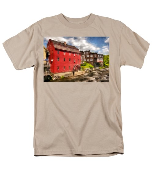 Rustic Historic Grist Mill Littleton, Nh Men's T-Shirt  (Regular Fit) by Betty Denise