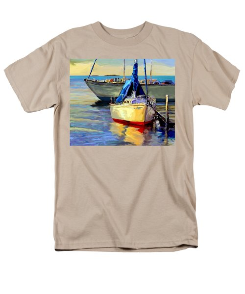 Men's T-Shirt  (Regular Fit) featuring the painting Sails At Rest by David  Van Hulst