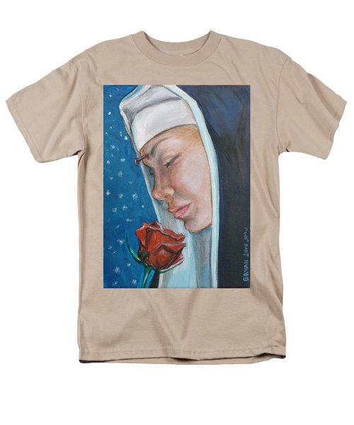 Saint Rita Of Cascia Men's T-Shirt  (Regular Fit) by Bryan Bustard