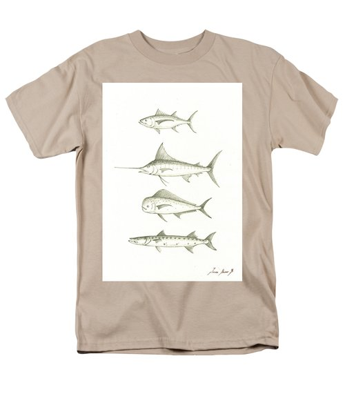 Saltwater Gamefishes Men's T-Shirt  (Regular Fit) by Juan Bosco