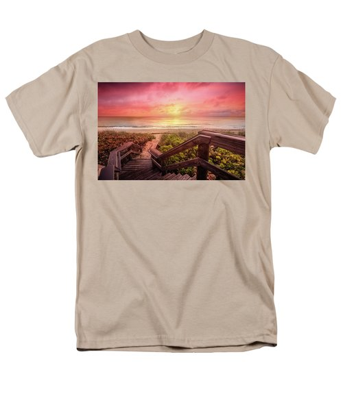 Men's T-Shirt  (Regular Fit) featuring the photograph Sand Dune Morning by Debra and Dave Vanderlaan