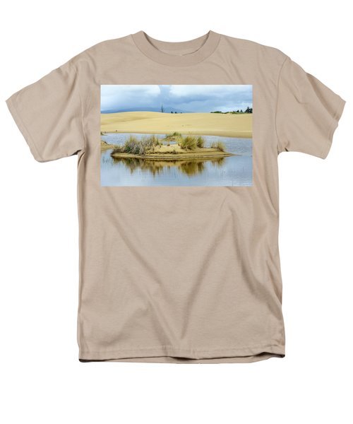 Sand Dunes And Water Men's T-Shirt  (Regular Fit) by Jerry Cahill