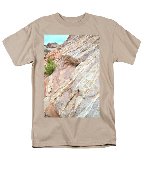 Men's T-Shirt  (Regular Fit) featuring the photograph Sandstone Cove In Valley Of Fire by Ray Mathis