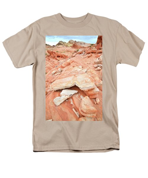 Men's T-Shirt  (Regular Fit) featuring the photograph Sandstone Heart In Valley Of Fire by Ray Mathis