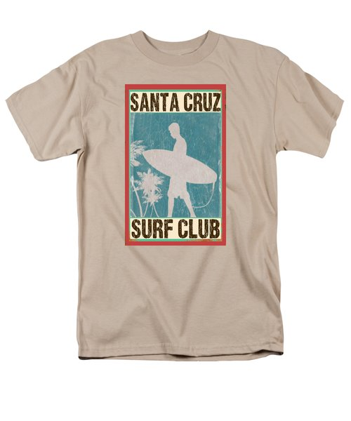 Men's T-Shirt  (Regular Fit) featuring the digital art Santa Cruz Surf Club by Greg Sharpe