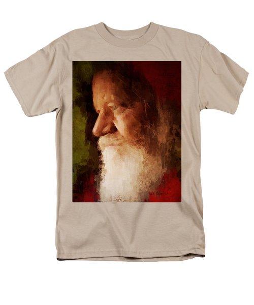Men's T-Shirt  (Regular Fit) featuring the digital art Santa by Lisa Noneman