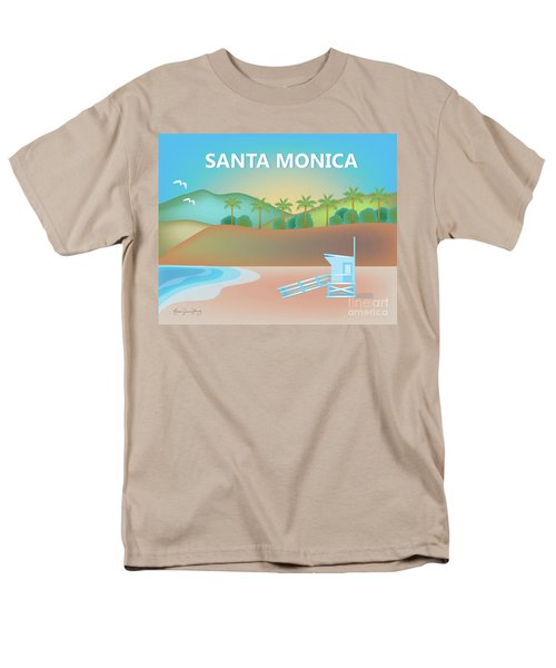 Santa Monica California Horizontal Scene Men's T-Shirt  (Regular Fit)