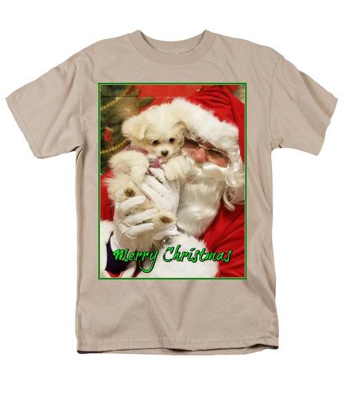 Santa Paws  Men's T-Shirt  (Regular Fit) by Darren Robinson