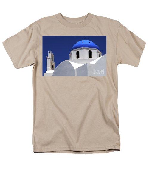 Men's T-Shirt  (Regular Fit) featuring the photograph Santorini Greece Architectual Line 2 by Bob Christopher