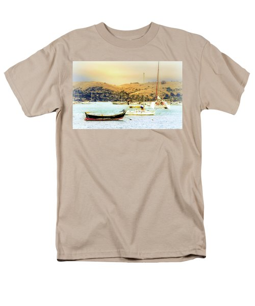Sausalito Sailboats Men's T-Shirt  (Regular Fit) by Laura DAddona