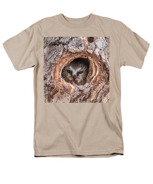 Saw-whet Secret Men's T-Shirt  (Regular Fit) by Yeates Photography