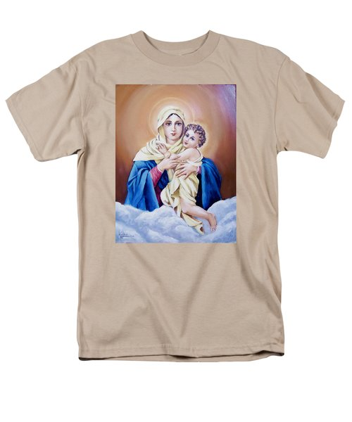 Men's T-Shirt  (Regular Fit) featuring the painting Schoenstat-tribute by Natalia Tejera