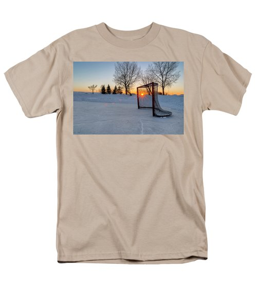 Men's T-Shirt  (Regular Fit) featuring the photograph Scoring The Sunset 2 by Darcy Michaelchuk
