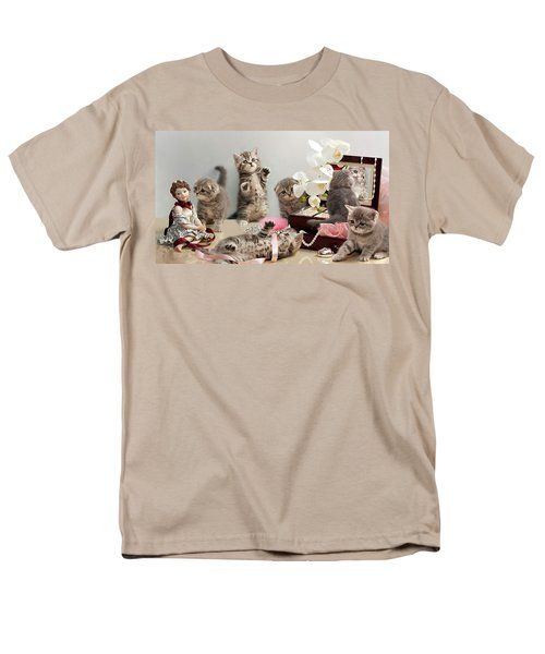 Men's T-Shirt  (Regular Fit) featuring the photograph Scottish Fold Cats by Evgeniy Lankin