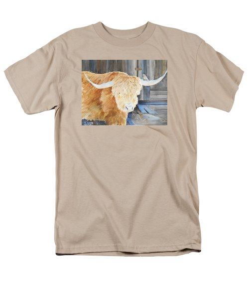 Scottish Highland And Friend Men's T-Shirt  (Regular Fit) by Christine Lathrop