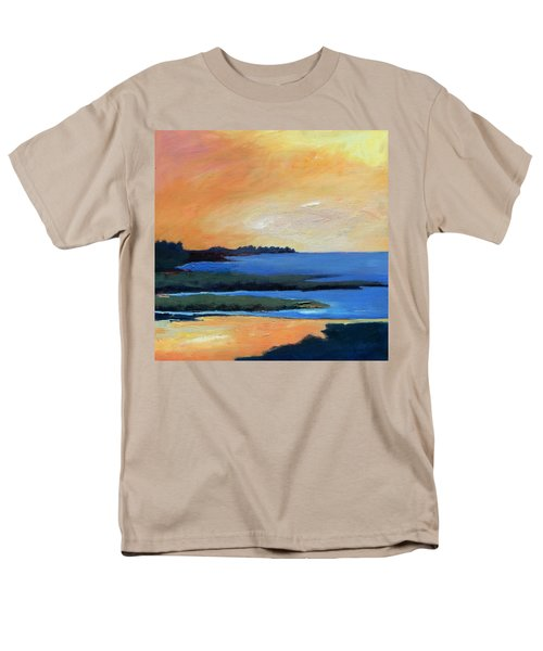 Men's T-Shirt  (Regular Fit) featuring the painting Sea And Sky by Gary Coleman