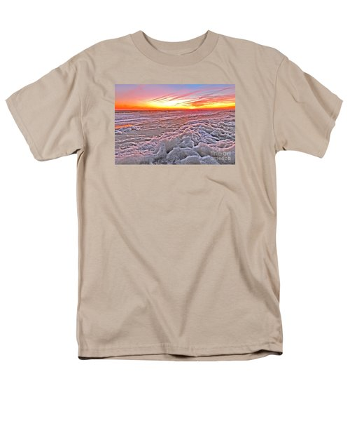 Men's T-Shirt  (Regular Fit) featuring the photograph Sea Foam Sunset by Shelia Kempf