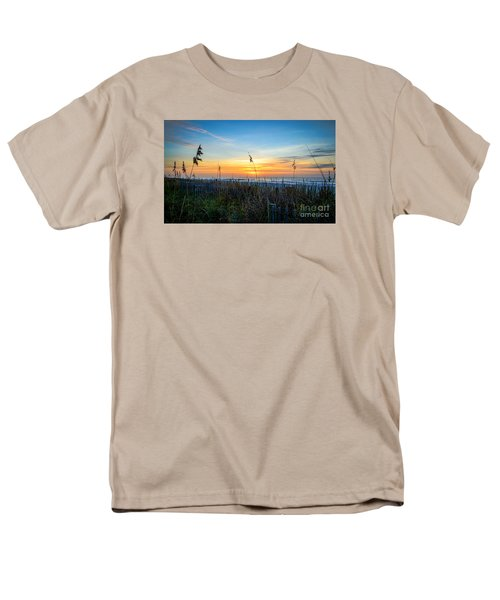 Sea Oats Sunrise Men's T-Shirt  (Regular Fit) by David Smith