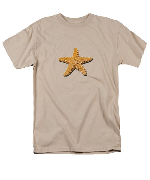 Sea Star Orange .png Men's T-Shirt  (Regular Fit) by Al Powell Photography USA