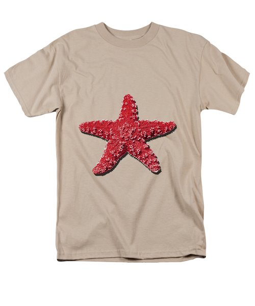 Sea Star Red .png Men's T-Shirt  (Regular Fit) by Al Powell Photography USA