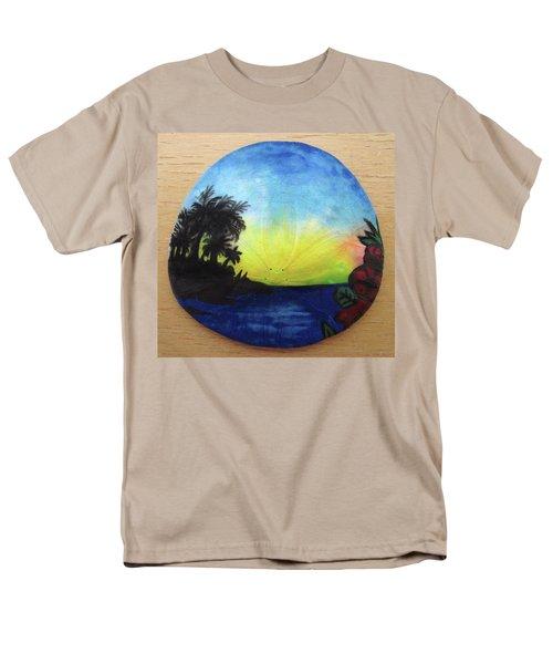 Seascape On A Sand Dollar Men's T-Shirt  (Regular Fit) by Mary Ellen Frazee