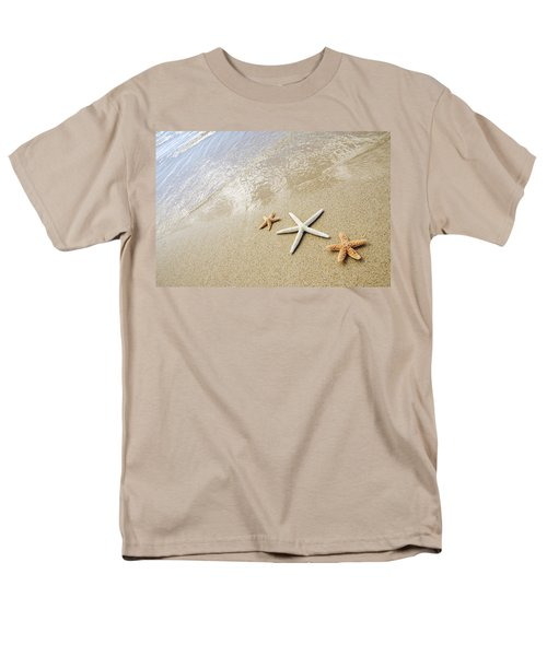 Seastars On Beach Men's T-Shirt  (Regular Fit) by Mary Van de Ven - Printscapes